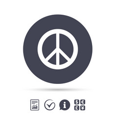 Peace sign icon hope symbol vector
