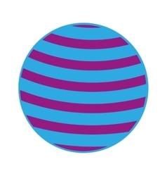 Plastic ball isolated icon design vector