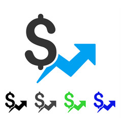 Price growth flat icon vector