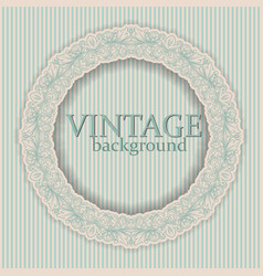 Round frame with vintage ornament vector