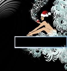 Santa woman vector image