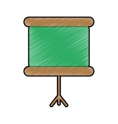 School chalkboard icon vector