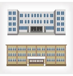 Set of two of buildings vector image