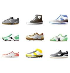 Shoe icon set vector image