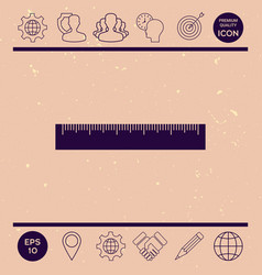 the ruler icon vector image vector image