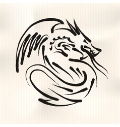 Chinese calligraphy of dragon vector