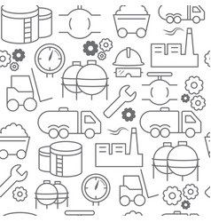 Line style icons seamless pattern industrial vector
