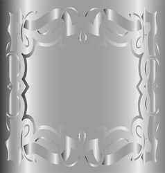Vintage royal background gray silver floral luxury vector
