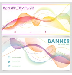 Banner design template vector