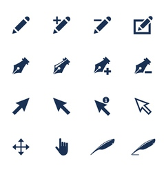 Cursor icons vector image