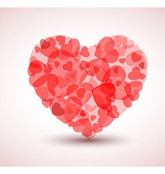 Big heart made from smaller hearts vector image