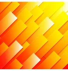 Abstract red orange and yellow paper rectangle vector image