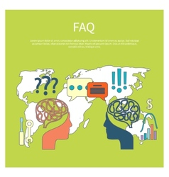Faq information sign icon vector