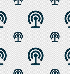 Wifi icon sign seamless pattern with geometric vector