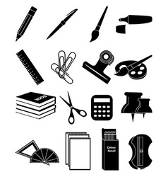 Stationary icons set vector