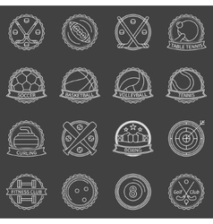 Sport labels or badges vector