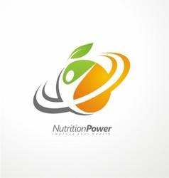 Organic Health Food creative symbol layout vector image