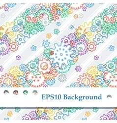 Background with colored gears vector