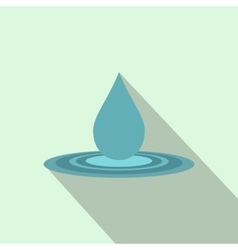Water drop flat icon vector