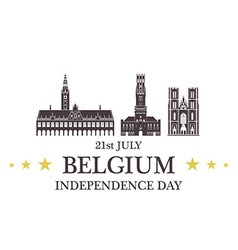 Independence day belgium vector