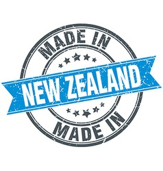 Made in new zealand blue round vintage stamp vector