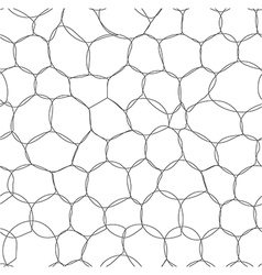 Abstract bubbles seamless pattern vector