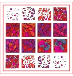 Abstract stained glass background vector