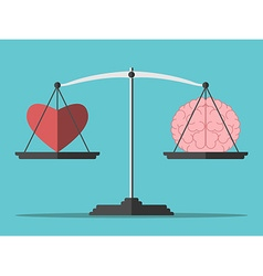 Balance heart and brain vector
