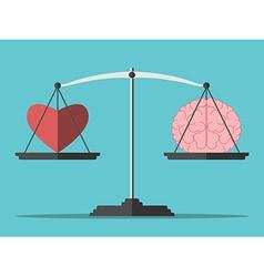 Balance heart and brain vector
