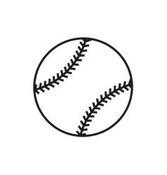 baseball line art icon on white background vector image vector image