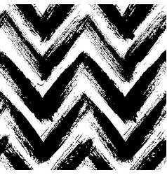 Chevron pattern from brush strokes vector