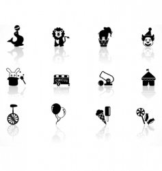 Circus symbols vector