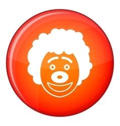 Clown head icon flat style vector