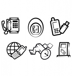 communication and internet symbols vector image