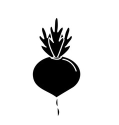 Contour delicious and health onion vegetable vector
