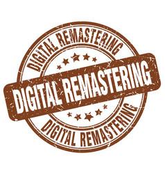 Digital remastering brown grunge stamp vector