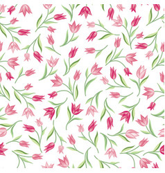 floral seamless pattern flower background spring vector image