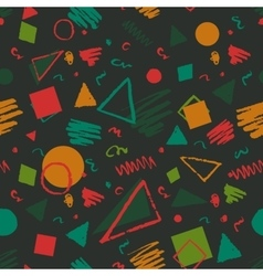 Geometric 1980s styled pattern vector