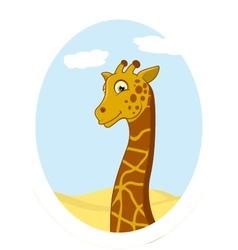 giraffe standing on circle vector image