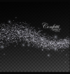 glittering silver stream of sparkles vector image vector image