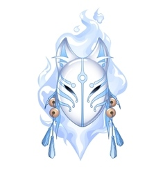 Graphic deamon fox mask vector