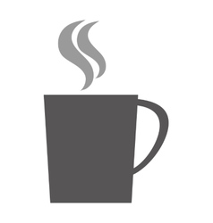 hot cup silhouette vector image