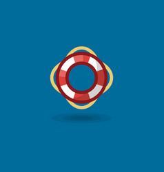 Icon life ring a marine vector