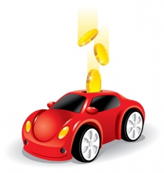 investing money in the car vector image vector image