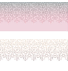 Lacy line seamless pattern set abstract floral vector
