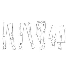 legs vector image vector image