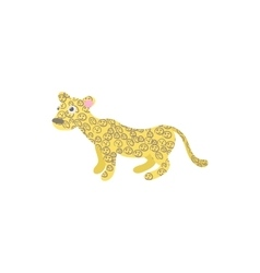 Leopard icon in cartoon style vector image