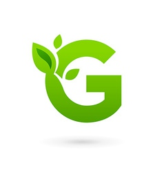 Letter g eco leaves logo icon design template vector