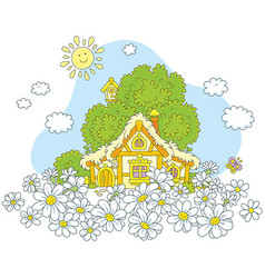Lodge and white daisies vector