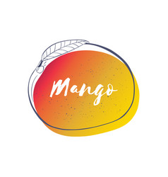 mango icon with lettering vector image vector image